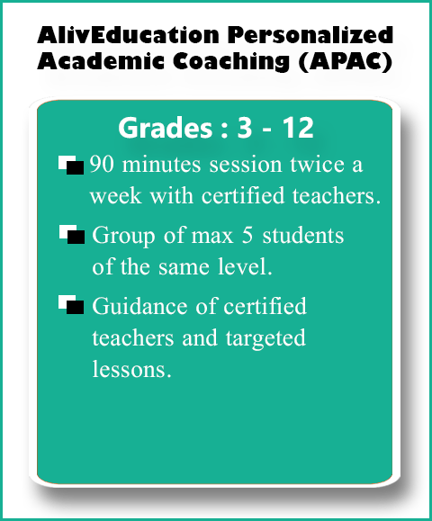 AlivEducation Personalized Academic Coaching(APAC) Course